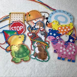 Lacing Cards Sets, ages 3+